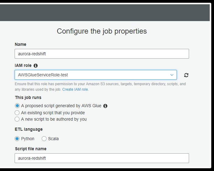 configure job properties