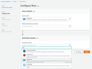 Configure a Flow on AppFlow image