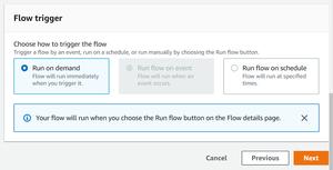Scheduling a Flow on AppFlow